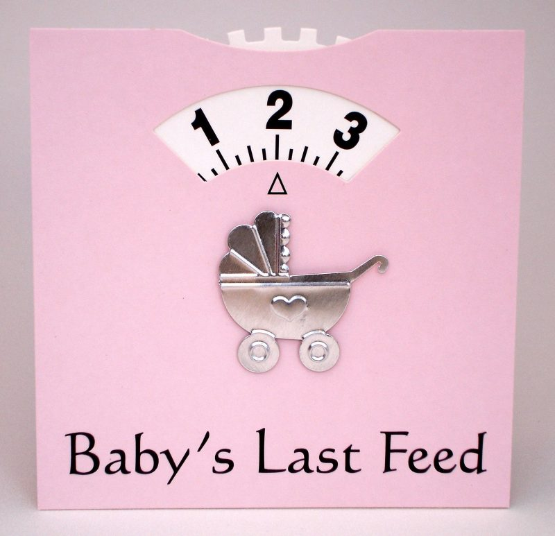 Babys Last Feed - Wheel Card -Pink